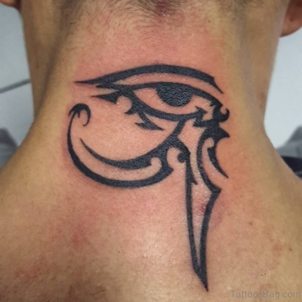 Black Ink Eye Tattoo
