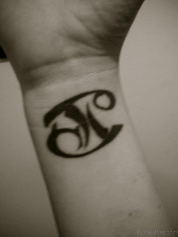 Black Ink Gemini Tattoo