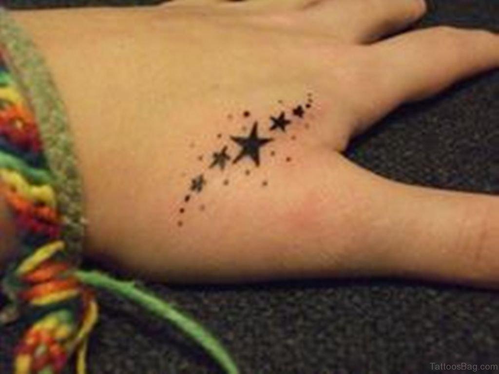 20 Star Tattoos On Hand