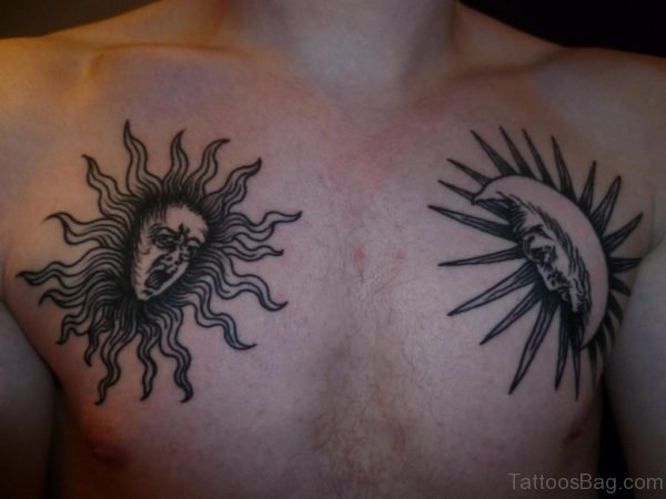 Black Moon And Sun Tattoo