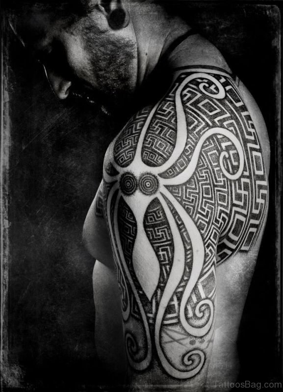 Black Nordic Shoulder Tattoo