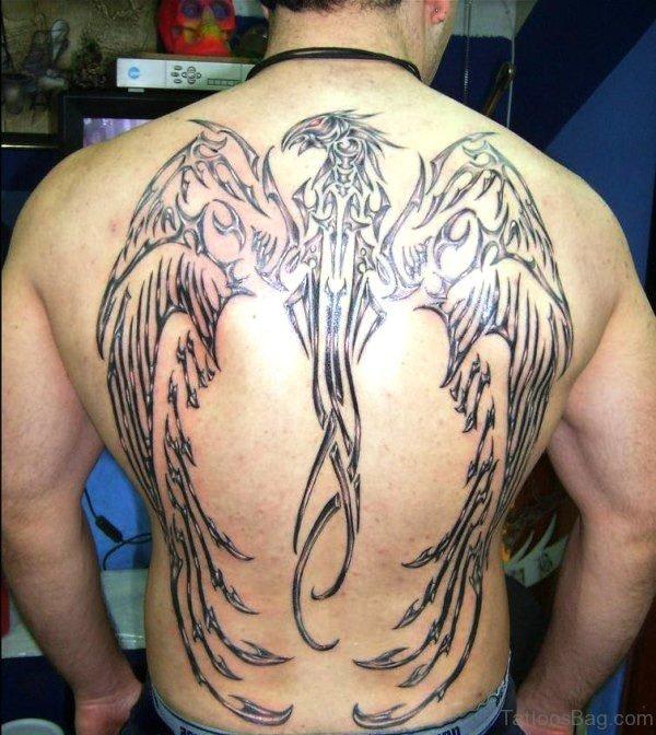 Black Phoenix Tattoo Design