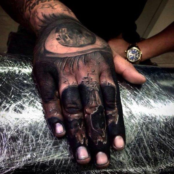 Blacked Skull Tattoo