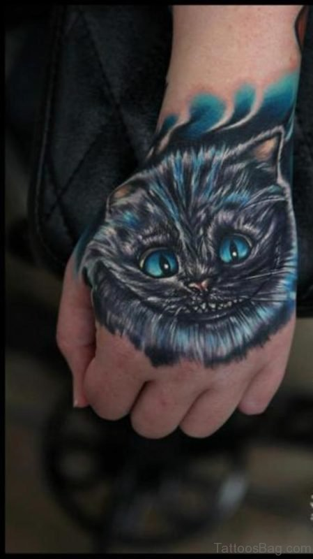 Blue Cat Tattoo