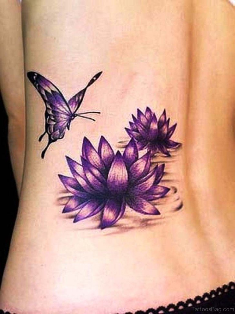 91 fabulous flowers tattoos on lower back. Black Bedroom Furniture Sets. Home Design Ideas
