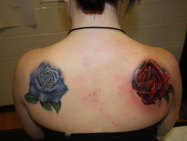 25 beautiful blue shoulder tattoos