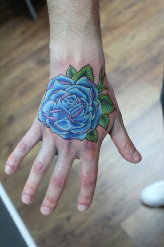 c7f2615abe499 30 Fantastic Blue Rose Tattoos On Hand