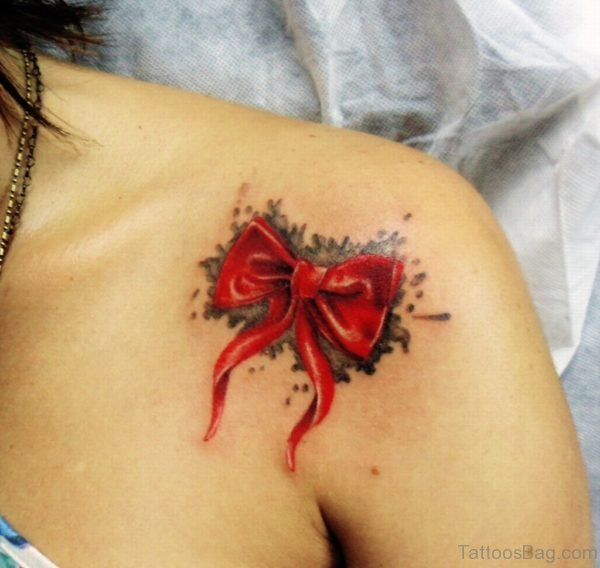 Bow Tattoo On Shoulder