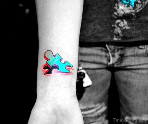 Brilliant 3D Autism Tattoo On Wrist