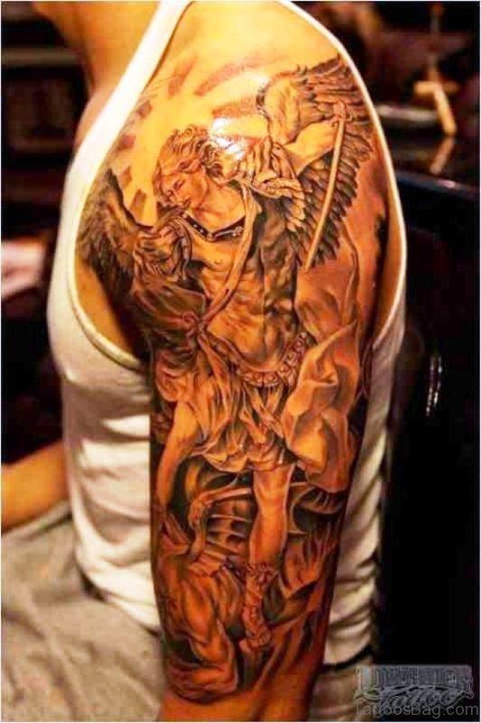 Brilliant Archangel Tattoo Design