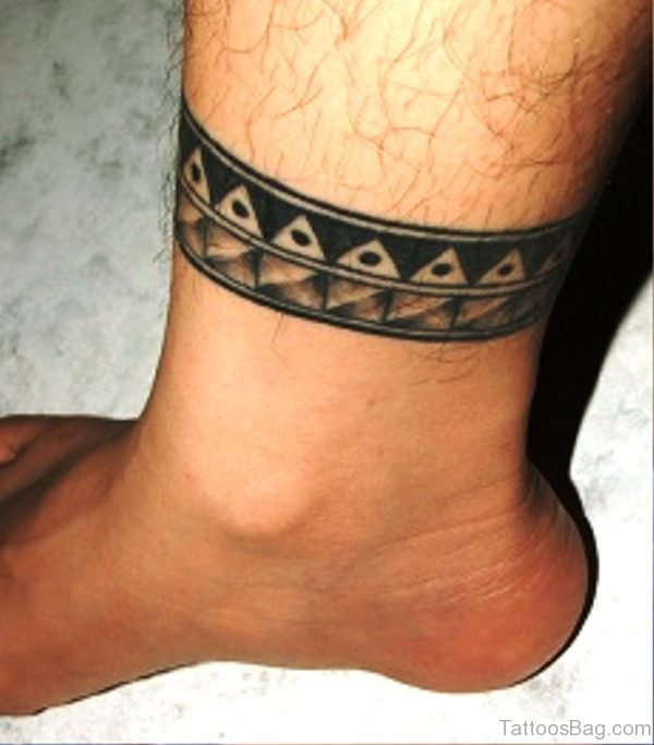 Brilliant Band Tattoo On Leg