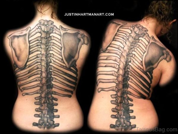 Brilliant Skeleton Tattoo On Back