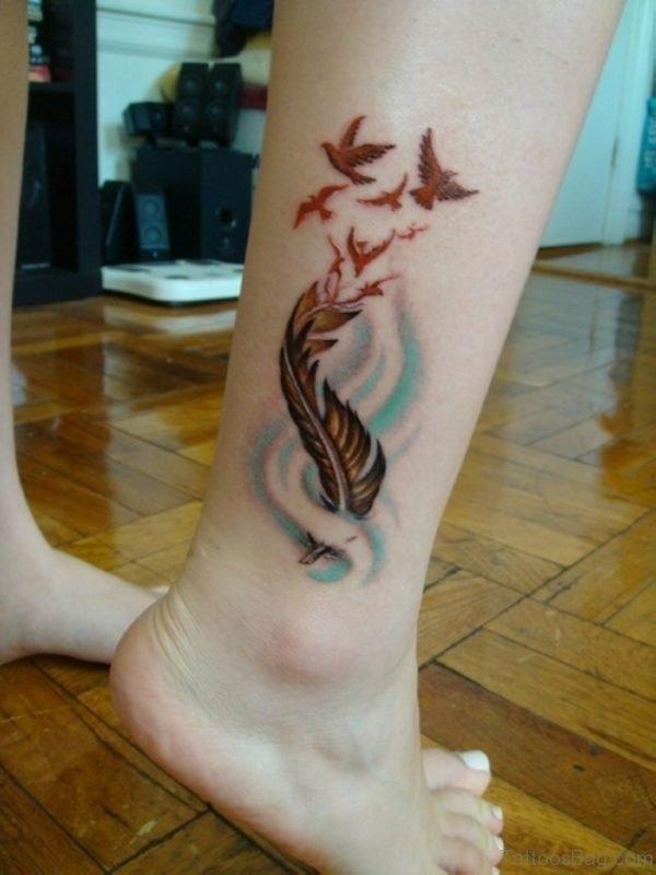 Brilliant Feather Tattoo