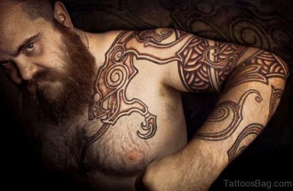 Brown Nordic Tattoo