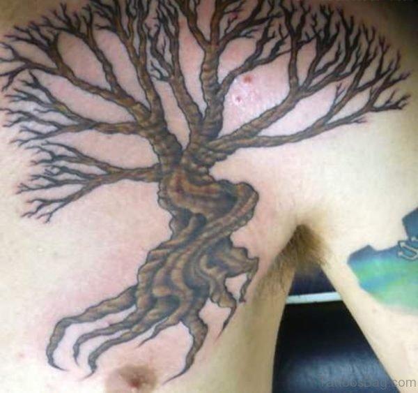 Brown Tree Tattoo