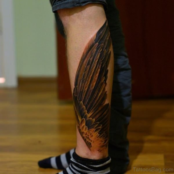 Brown Wings Tattoo