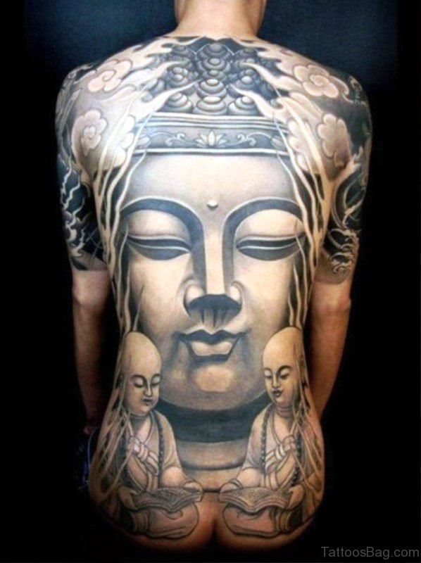 Buddha Tattoo On Back