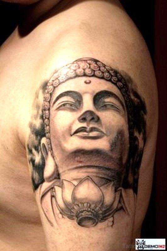 Buddha Tattoo On Shoulder