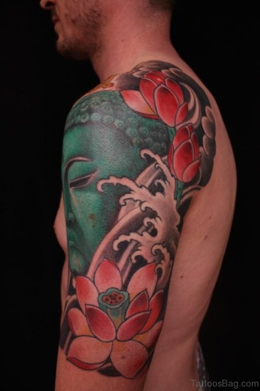 Buddhist Shoulder Joint Tattoo