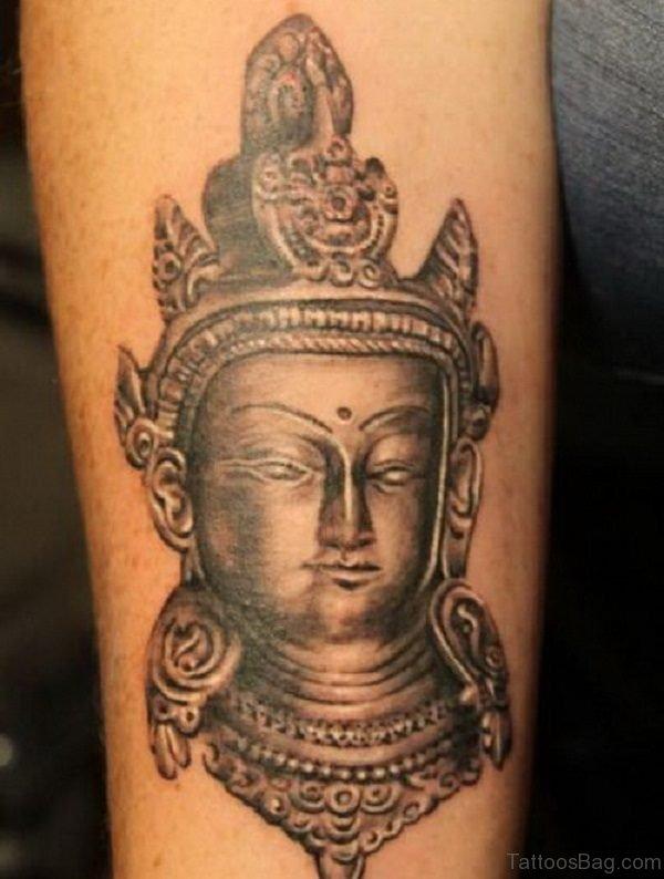 Buddhist Tattoo Design On Arms