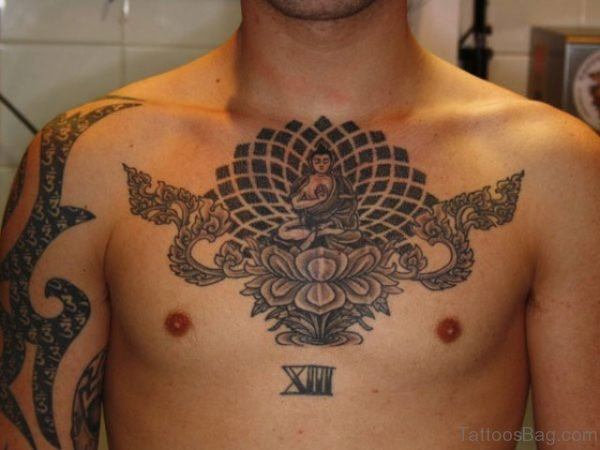 Buddhist Tattoo On Chest
