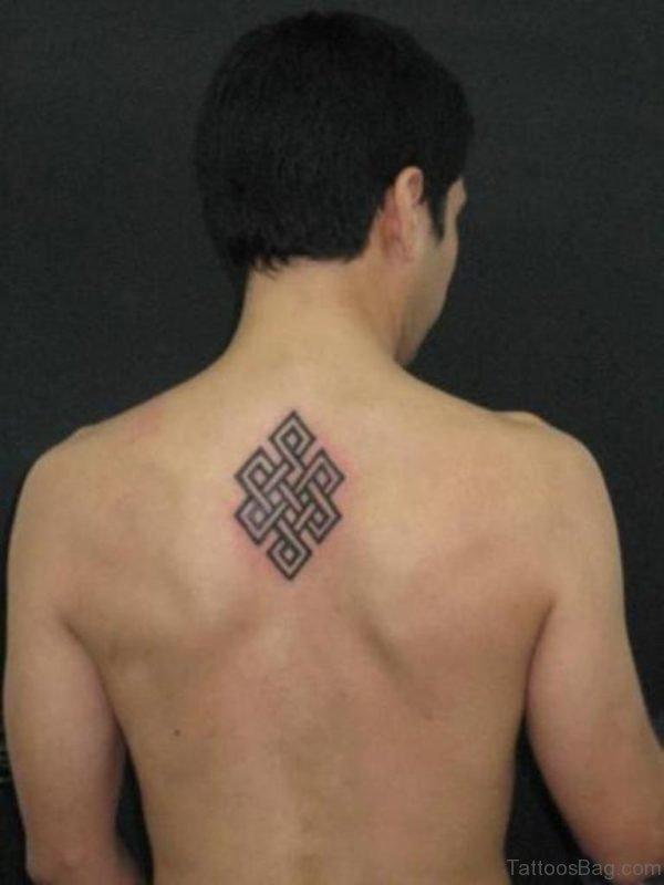 Buddhist knot Tattoo On Back