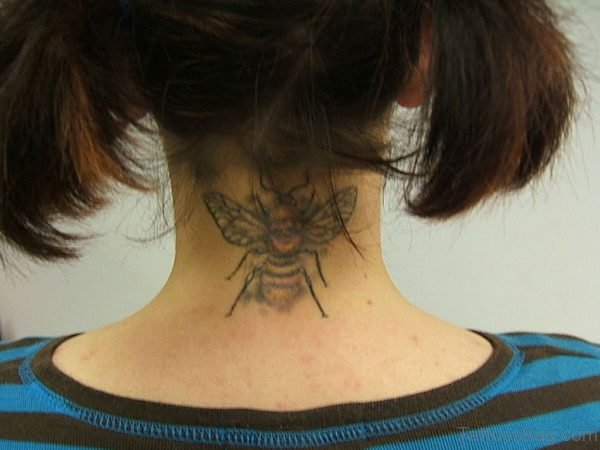 Bumblebee Tattoo On Nape