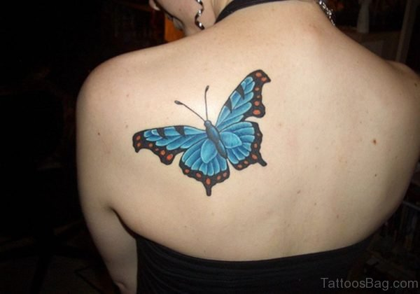 Butterfly Tattoo Design On Back