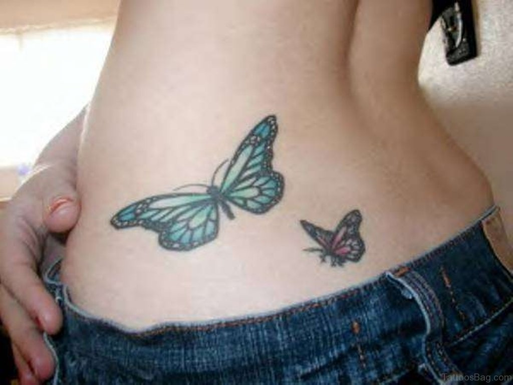 Girls with butterfly tattoos
