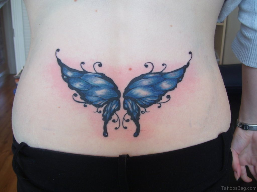 03e415da6a350 Butterfly Tattoo On Lower Back