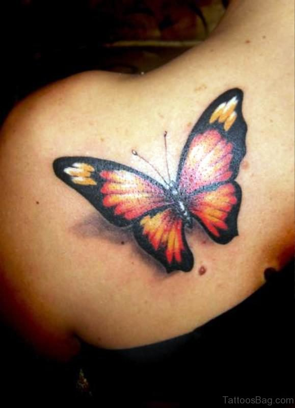Butterfly Tattoo On Shoulder 1