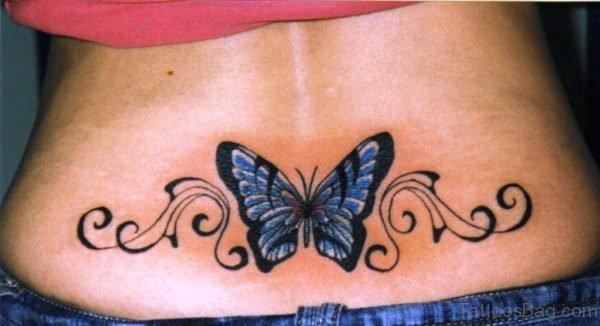 Butterfly Tattoo On Waist Waist TD123 TB126 1