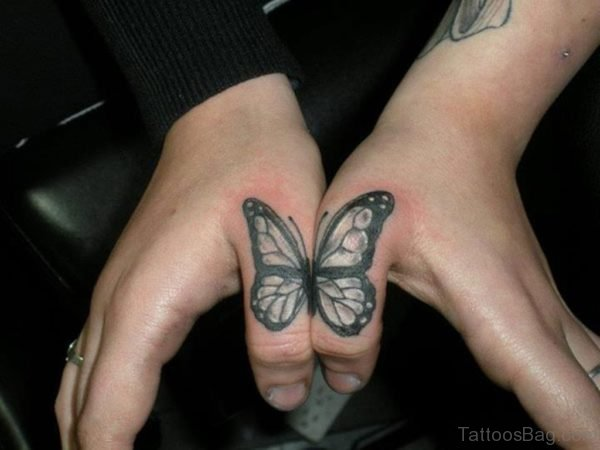 Butterfly tattoo in hand