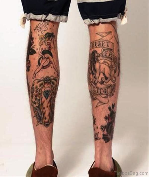 Calf Tattoo Design Image