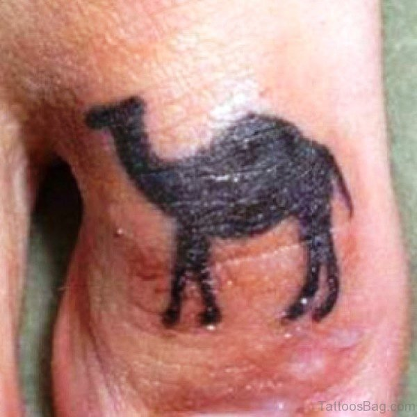 Camel Tattoo On Toe Image