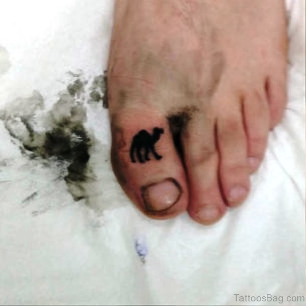 Camel Tattoo On Toe Picture