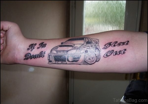 Car Tattoo Design On Arm