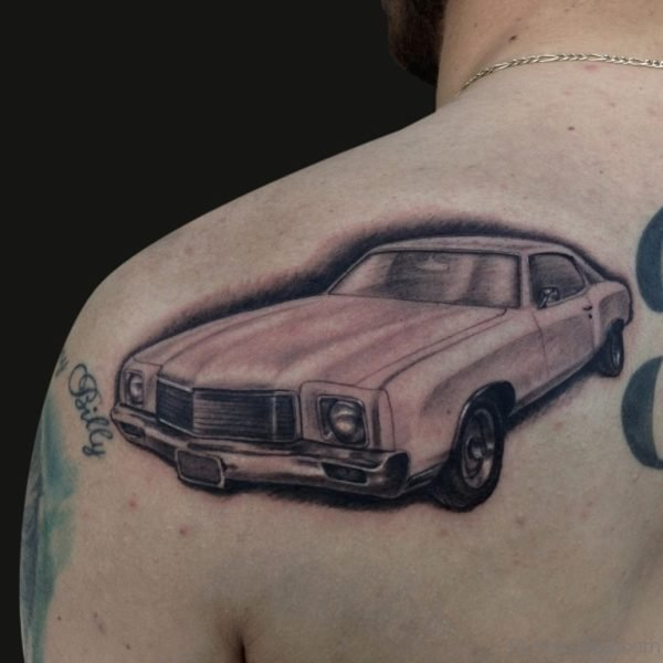 Car Tattoo Design On Back