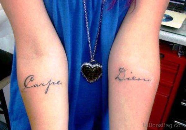 Carpe Diem On Both Arms