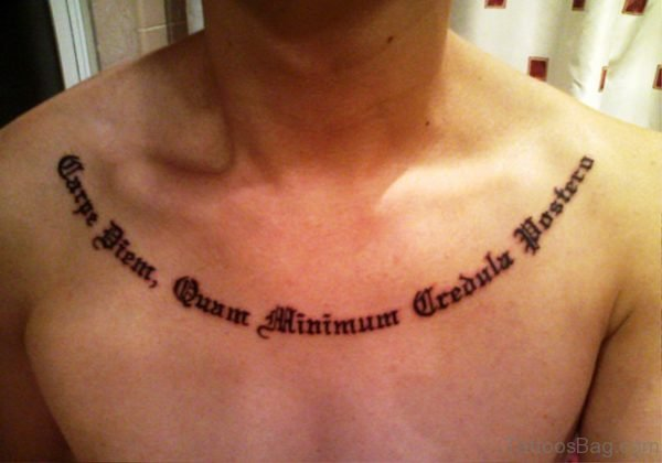 Carpe Diem With Wording Tattoo