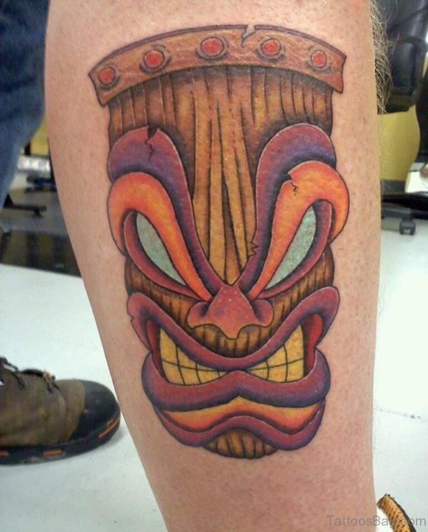 Cartoon Mask Tattoo