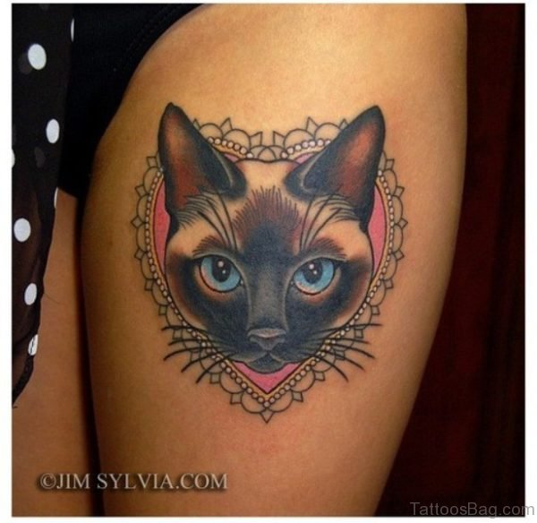 Cat Head Tattoo Design