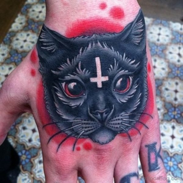 Cat Tattoo On Hand