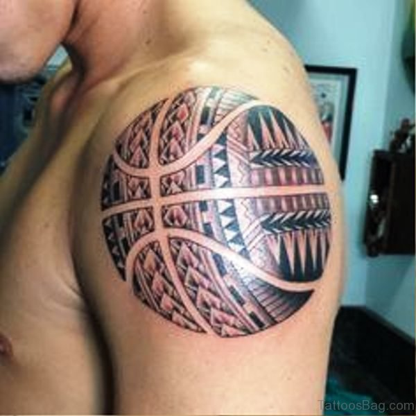 Celtic Basketball Tattoo On Shoulder