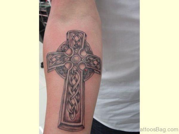 Celtic Cross Tattoo On Arm