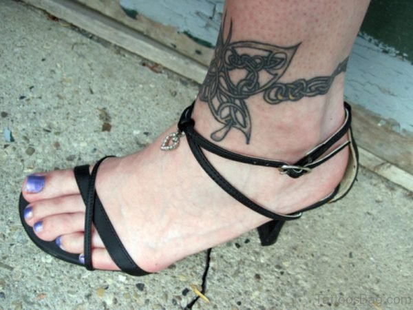 Celtic Knot Butterfly Ankle tattoo