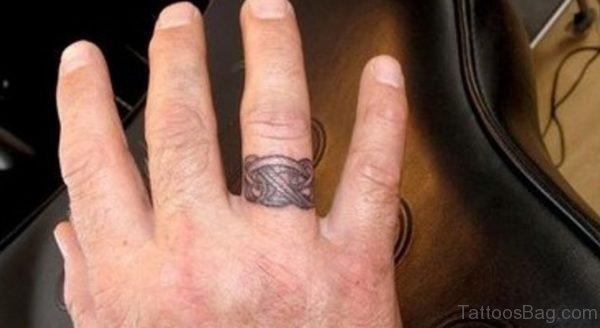 Celtic Knot Tattoo design On Finger