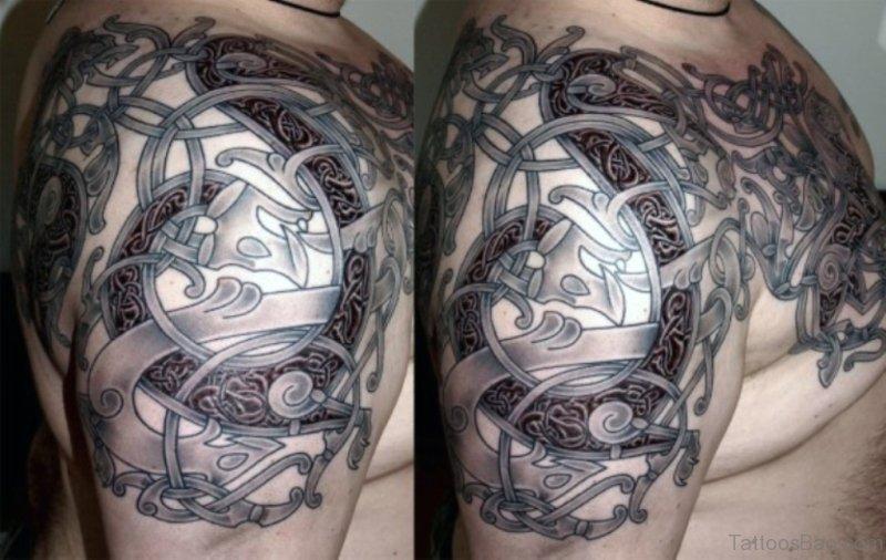 a3904878f Celtic Nordic Shoulder Tattoo Design
