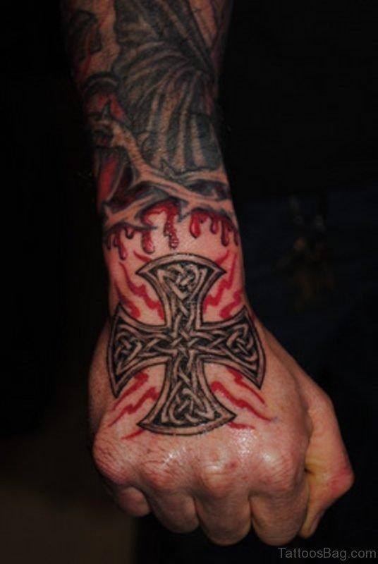 Celtic Tattoo Design On Hand
