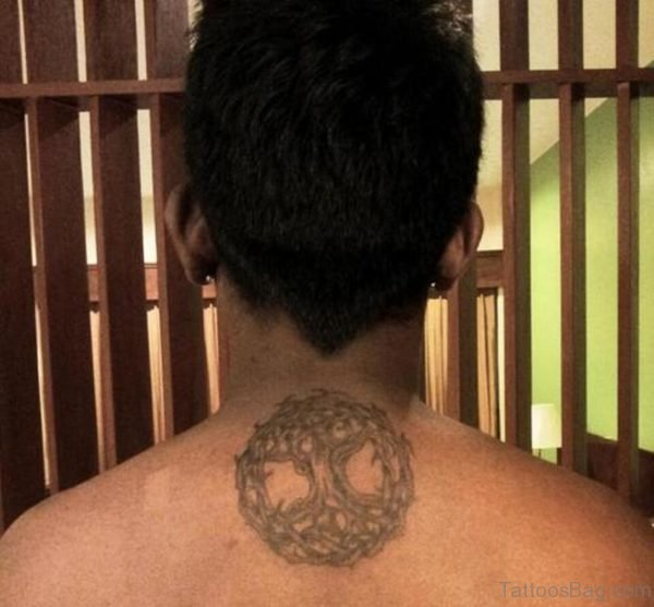 Celtic Tree Of Life Tattoo On Back Of Neck